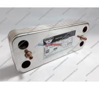 Теплообменник вторичный ГВС Zilmet 12 пластин Chaffoteaux (65104333-12)