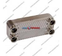 Теплообменник ГВС 12 пластин 5 фланцев Daewoo DGB 100-200 ICH (3318106220)